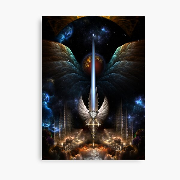 The Angel Wings Sword Of Arkledious Imperial Wings Canvas Print