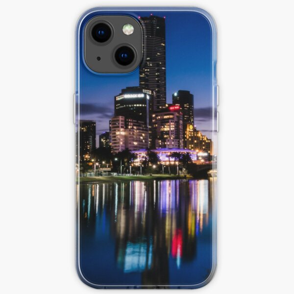 MELBOURNE SKYLINE REFLECTED IN THE YARRA RIVER iPhone Soft Case