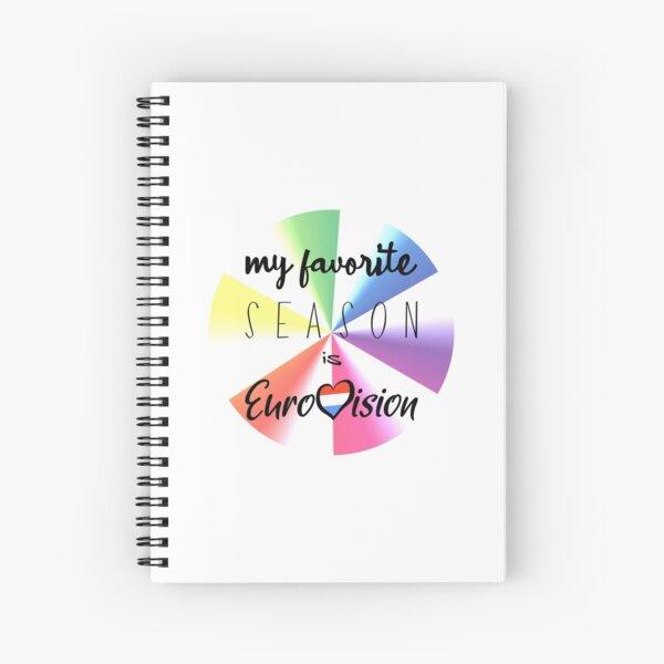 Eurovision - Eurovision song contest - ESC fans - my favorite season is Eurovision Spiral Notebook