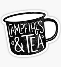 CAMPFIRES & TEA Sticker
