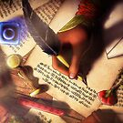 The Writer (Digital Illustration) - Rotated by DeridiasDesigns