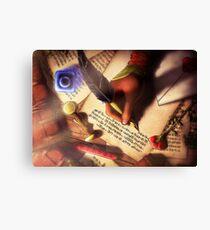 The Writer (Digital Illustration) - Rotated Canvas Print