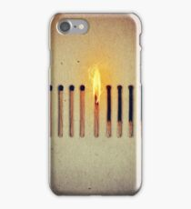 burning alone 2 iPhone Case/Skin