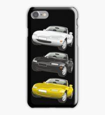 Mazda MX-5 Miata black iPhone Case/Skin