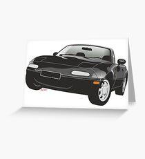 Mazda MX-5 Miata black Greeting Card