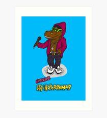 FLIGHT OF THE CONCHORDS - THE HIPHOPOPOTAMUS AND THE RHYMENOCEROS - THE HIPHOPOPOTAMUS VERSION 2 Art Print