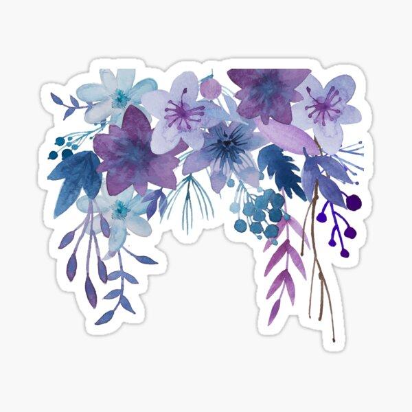 Blue Purple Flowers Sticker