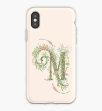 M Romantic Floral Monogram iPhone Case