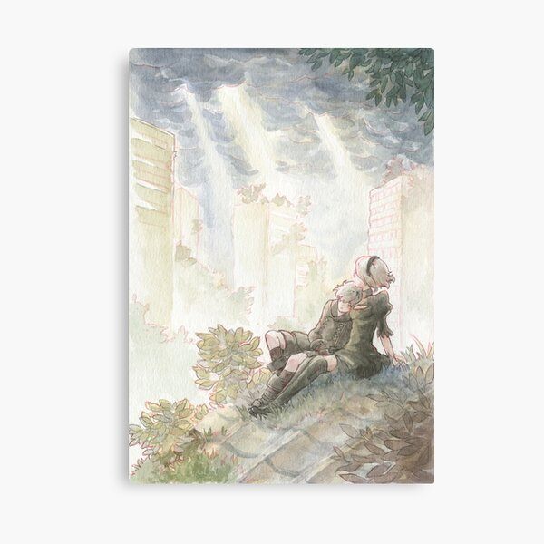 Nier Automata - watercolor - Canvas Print