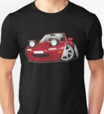Mazda MX-5 Miata caricature red T-Shirt