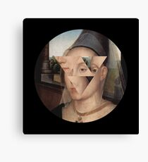 Puzzle face Canvas Print
