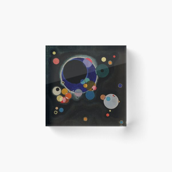 Wassily Kandinsky - Several Circles - Bauhaus Art Acrylic Block