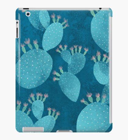 Blue cactus iPad Case/Skin