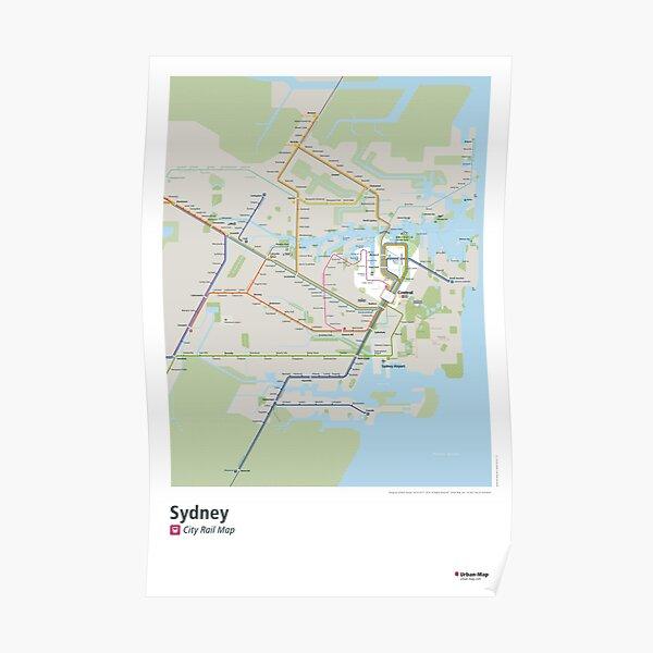 Sydney City Rail Map Poster Poster
