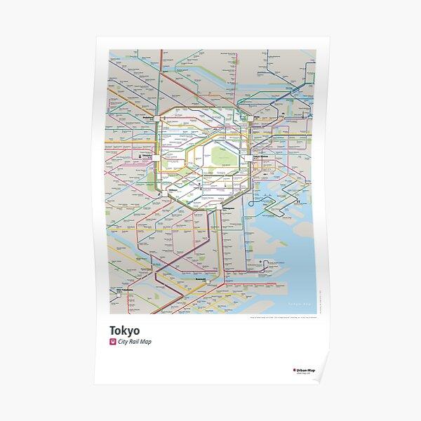 Tokyo City Rail Map Poster Poster