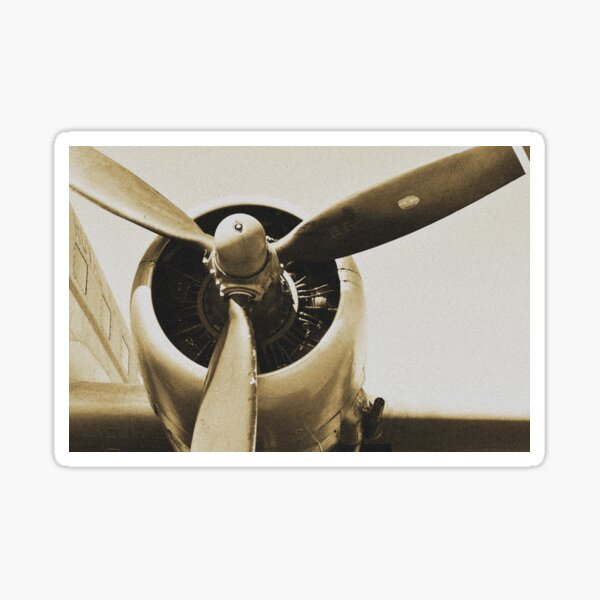 Avion d'un rêve vintage Sticker