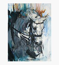 Dressage No.6 - Grey Stallion in Focus Photographic Print