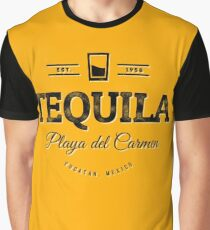 Tequila Vintage Typography Badge Graphic T-Shirt