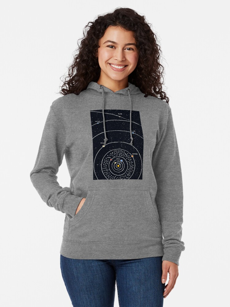 Alternate view of Solar System Lightweight Hoodie