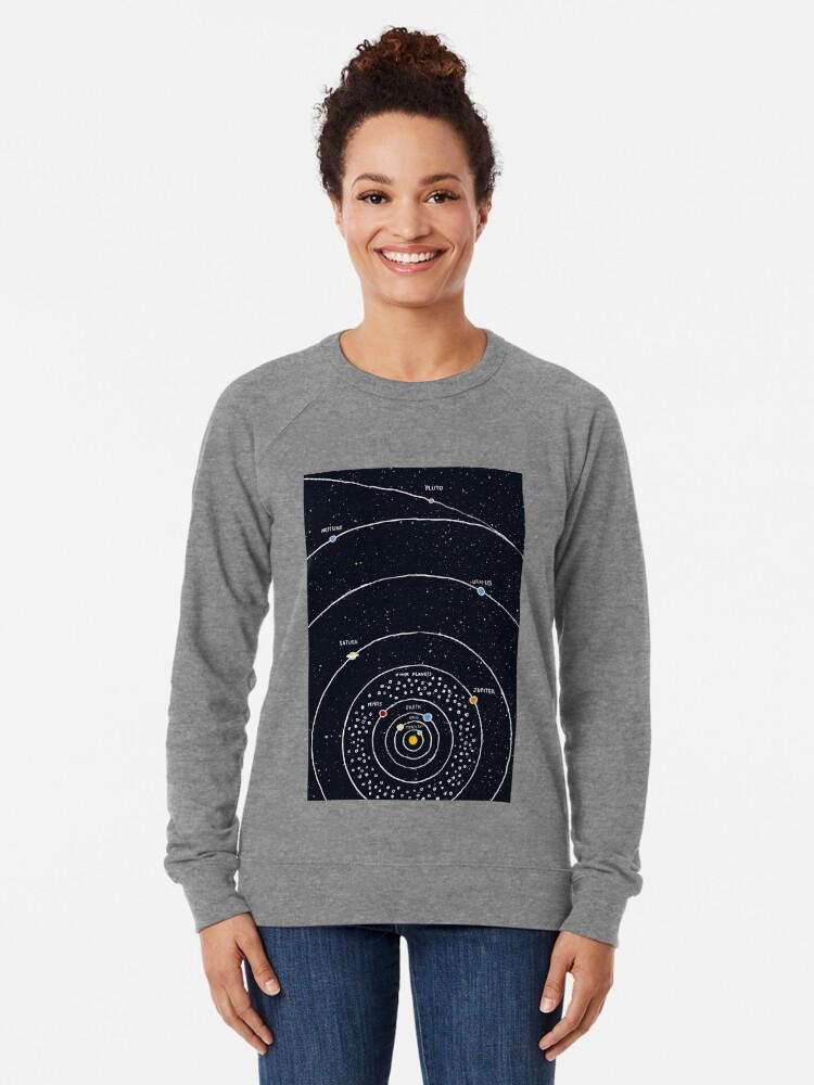 Alternate view of Solar System Lightweight Sweatshirt