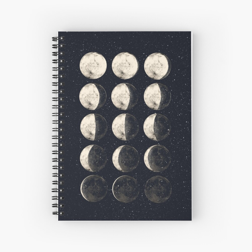 Moon Cycle Spiral Notebook