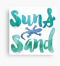 Sun and Sand Salamander Canvas Print