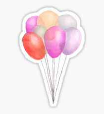 Watercolor Party Balloons Sticker