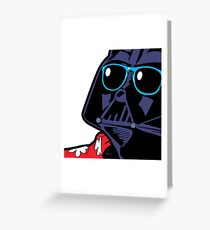 POP ART Dark Vador Greeting Card