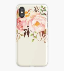 Romantic Watercolor Flower Bouquet iPhone Case/Skin