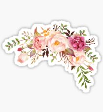 Romantic Watercolor Flower Bouquet Sticker