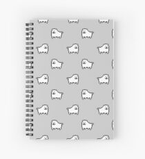 Undertale Annoying Dog - Grey Spiral Notebook
