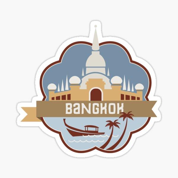 Bangkok Thailand Retro Badge Sticker