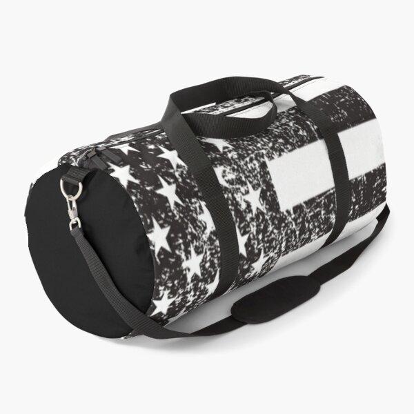 Grunged usa flag Duffle Bag