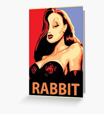 Jessica Rabbit Greeting Card