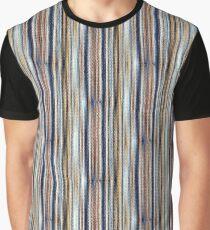 Blue, White, Brown Graphic T-Shirt