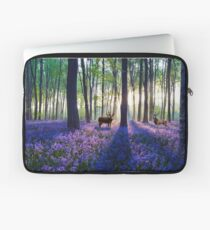 Forest of Animals and Bluebells Laptop Sleeve