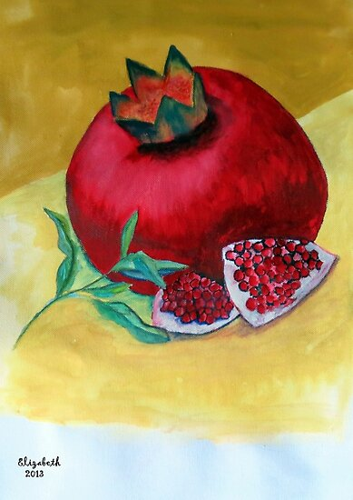 A ripe pomegranate by Elizabeth Kendall