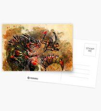 Manstodon versus the Swamp Tyrant Postcards