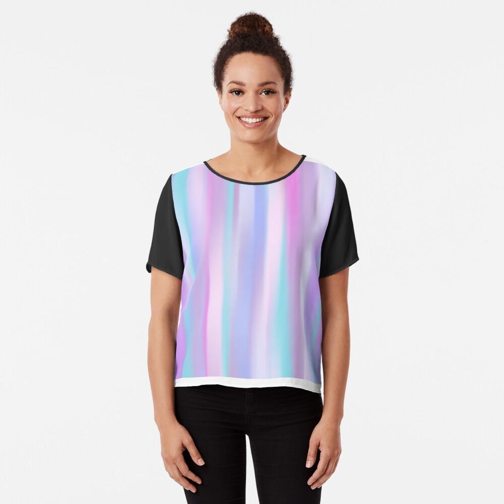 Pastel Stripes Chiffon Top