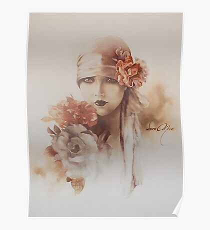 """""""Claudia"""" Oil on Canvas Poster"""