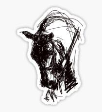 Dressage Horse Drawing  Sticker