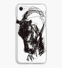 Dressage Horse Drawing  iPhone Case/Skin