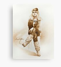 """Rocker Girl"" Painting in Oils Canvas Print"