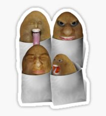 Potato  Four Pack Sticker