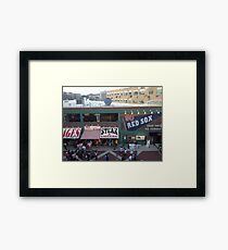 Go Red Sox! Framed Print