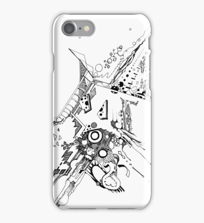 Along Those Lines - Pen & Ink Illustration iPhone Case/Skin