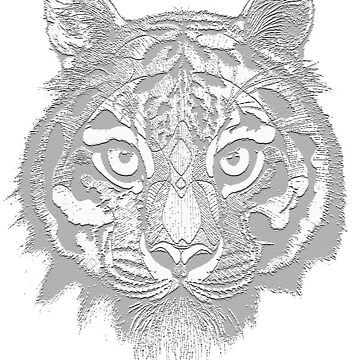 Tiger Stamp by MinikinQP