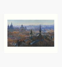 Panoramic view of Lviv Art Print
