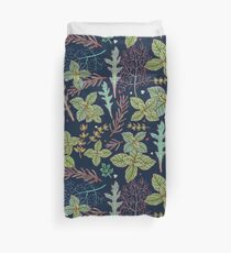 dark herbs pattern Duvet Cover