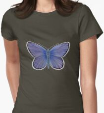 Karner Blue Butterfly Womens Fitted T-Shirt
